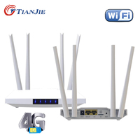 TIANJIE sbloccato 300Mbps 4 antenne esterne Router Wifi domestico 3G 4G GSM LTE Router Hotspot Modem 4G con Slot per schede Sim