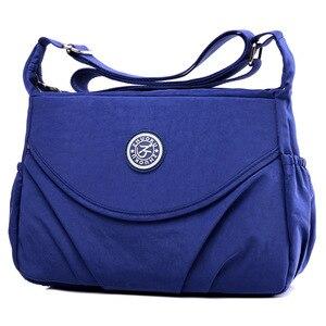 Image 5 - 2020 New Single  Zipper Shoulder & Crossbody Bags Nylon Waterproof Package Compartment  Womens Messenger Bag