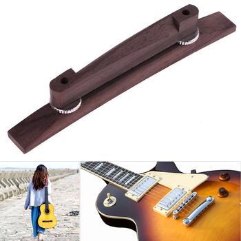 Profesjonalne 6 ciąg Archtop gitara jazzowa regulowany pływające palisander mostek dla muzyczne instrumenty strunowe części do gitary tanie i dobre opinie CN (pochodzenie) Rosewood bridge