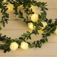 10/20/40leds flor Rosa guirnaldas de luces LED Batterry/USB Power guirnalda guirnaldas navideñas de luces fiesta boda jardín dormitorio Decoración