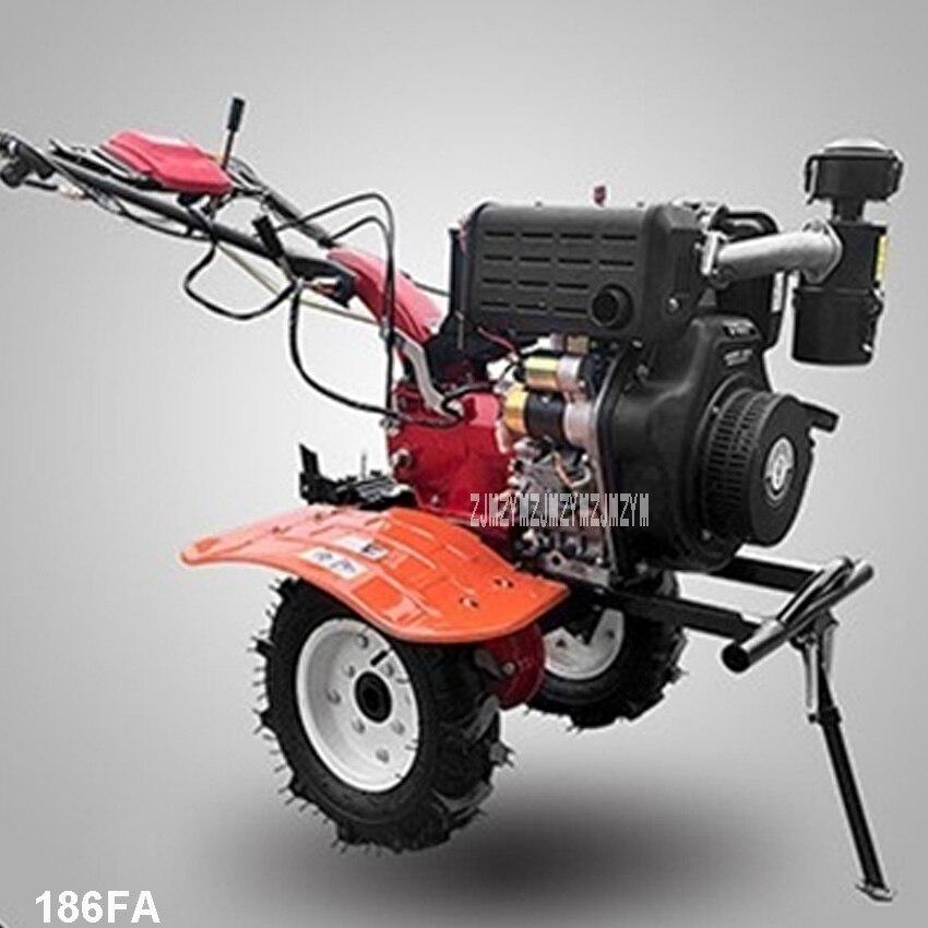 186FA Diesel Tillage Machine Electric Start Type Micro Rotary Tiller 4-stroke Gasoline Engine  Agricultural Weeding Machine 4kw