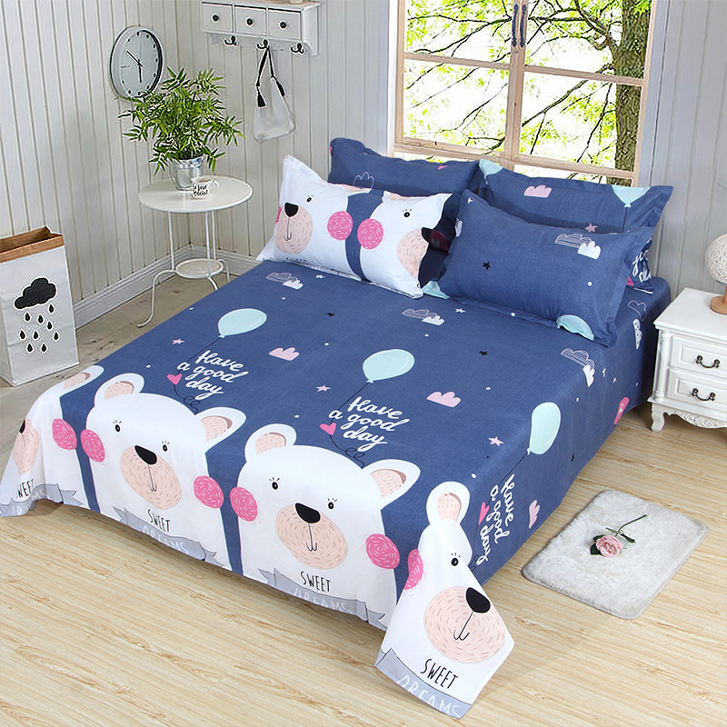 Skin-Friendly Four-piece Set Children Three-piece Bed Sheet Set Quilt Cover Bed Fittings 1.2 M 1.8 M Bed A Generation Of Fat