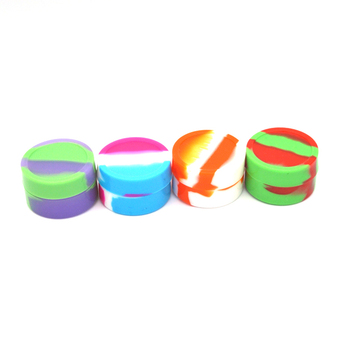 1 X 5ml Wax Dry Herb Jars Dab Round Shape Silicone Container Non Solid Color for Dry Herb Atomizer AGO Oil Wax Jar image