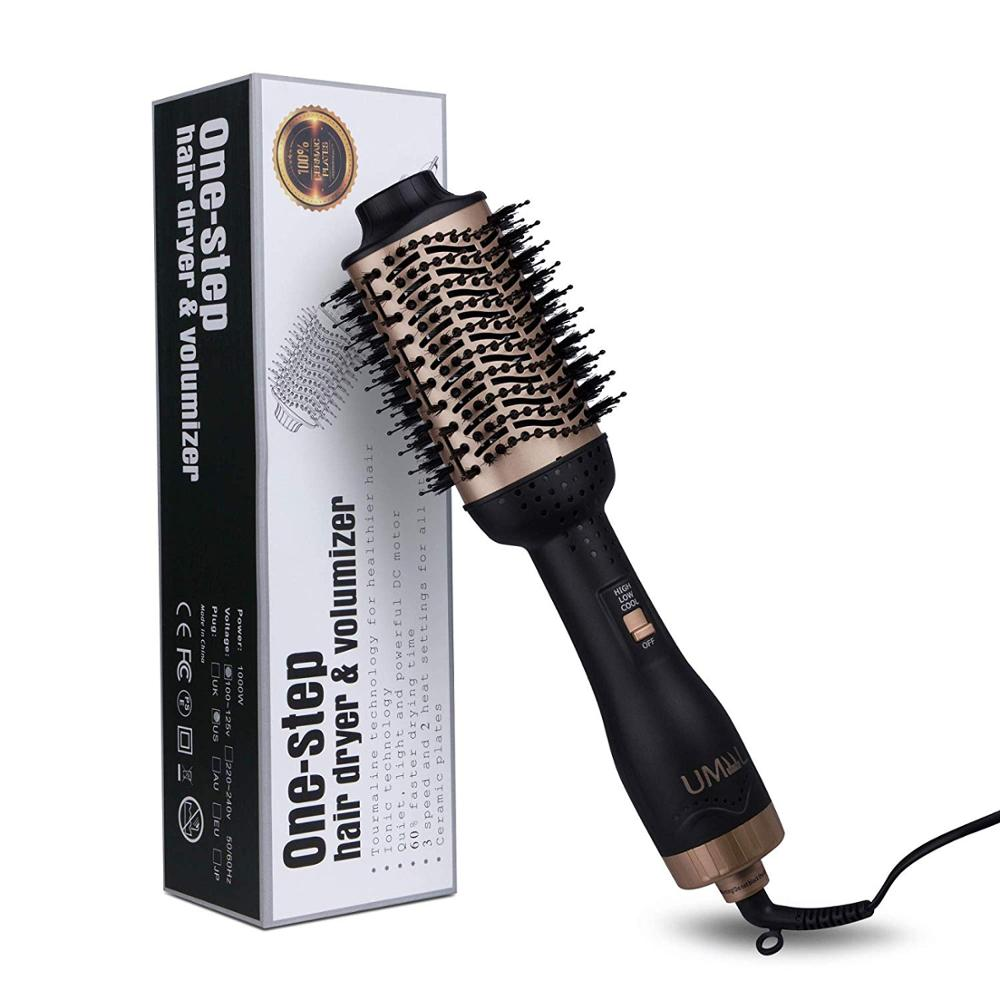Image 5 - Professional One Step Hair blow dryer Brush and Volumizer hot air curling iron roller 3 in 1 Smooth Frizz with Ionic Technology-in Curling Irons from Home Appliances