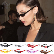 TTLIFE Vintage Rectangle Sunglasses Women Retro Skinny Eyewear Cat Eye Designer Ladies Small Frame Black Red Sun Glasses Brand все цены