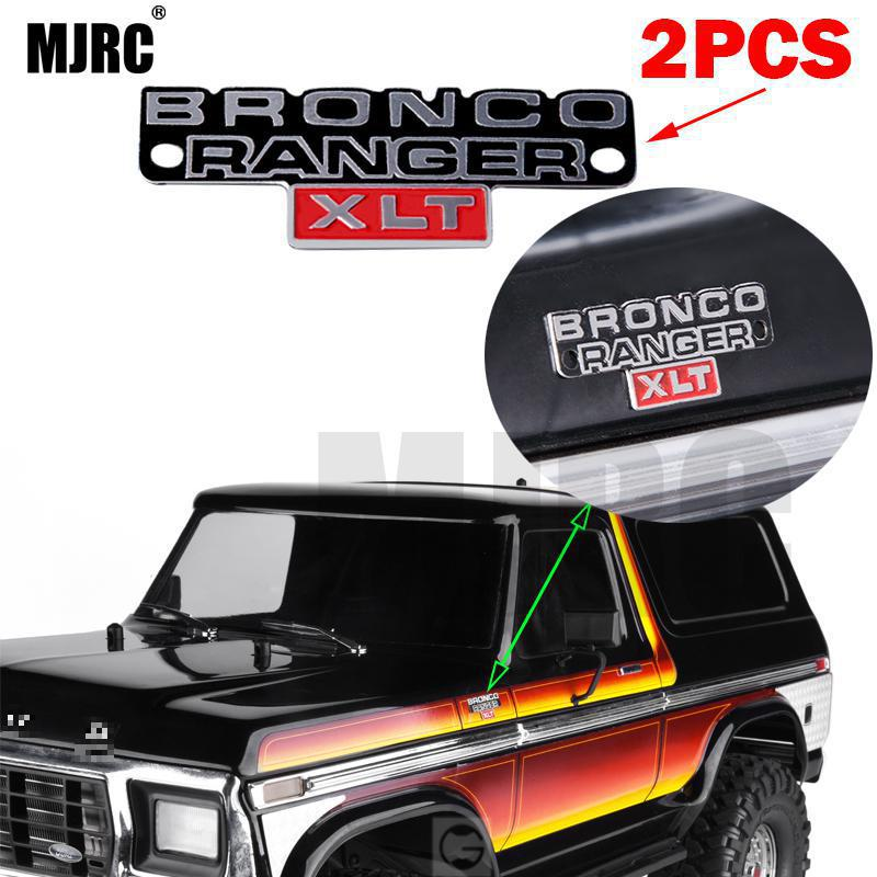 MJRC 2pcs Stainless Steel Stereo Logo Metal Badge For 1/10 Trx4 TRX-4 82046-4 Bronco Ranger Rc Crawler Car 2016 NEW