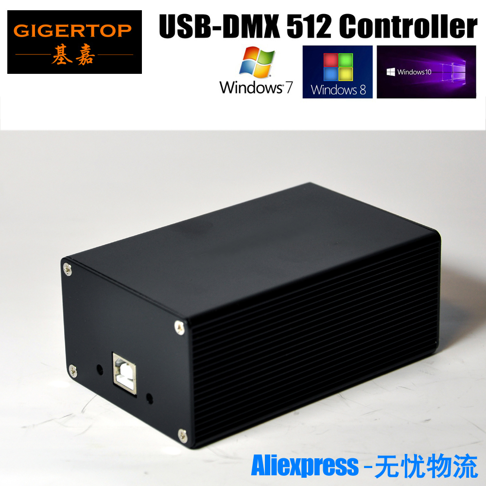 China <font><b>DMX512</b></font> Stage Light Controller Box HD512 Universal <font><b>USB</b></font> DMX Dongle 512 Channels PC / SD Offline Mode Martin Lightjockey image