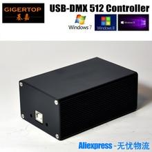 Chiny kontroler oświetlenia scenicznego DMX512 HD512 uniwersalny klucz USB DMX 512 kanałów PC / SD tryb Offline Martin Lightjockey