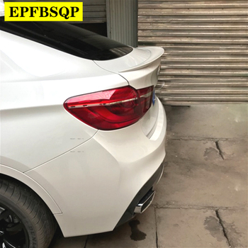 For BMW X6 E71 Black Spoiler 2008 to 2014 High Quality ABS Plastic Rear Trunk Boot Wing Lip White Spoiler Car Accessories image
