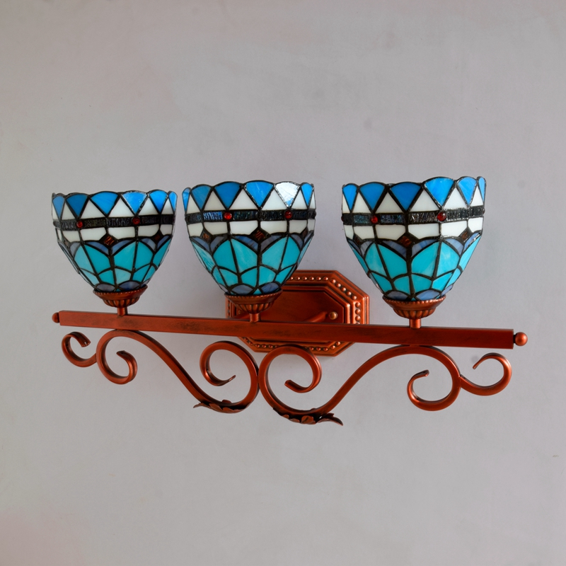 Mediterranean Sea Blue Pastoral Wall Lamp - Lamps & Lighting
