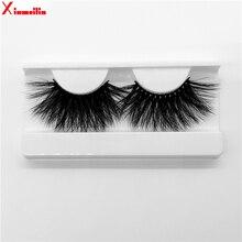 25mm 3D  mink lashes natural long fluffy thick volume individual false eyelashes wholesale makeup dramatic MG08