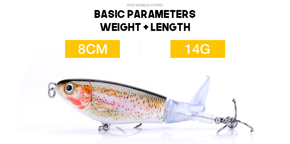 VTAVTA 5pcsLot 14g 8cm Floating Wobblers Pike Fishing Lure Set Pencil Hard Bait Artificial Whopper Popper Fishing Tackle Lures 09