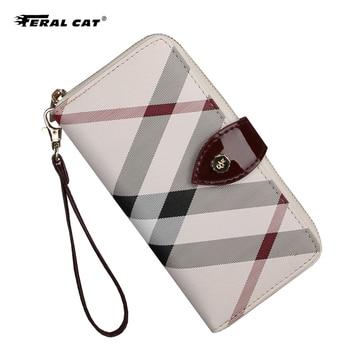 Cat 2020 women's mid-length zip wallet. Ladies Wallet Wallet Clip Wallet Phone Bag Multi Card Holder Wallet Lady Luxury фото