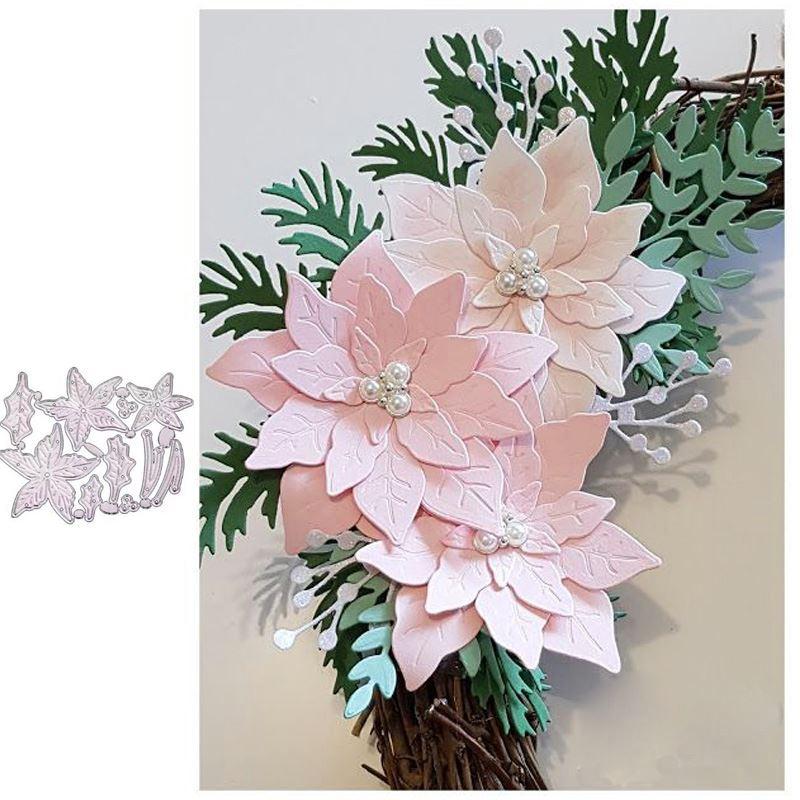 Christmas Flower Metal Cutting Dies for DIY Scrapbooking Album Paper Cards Decorative Crafts Embossing Die Cuts