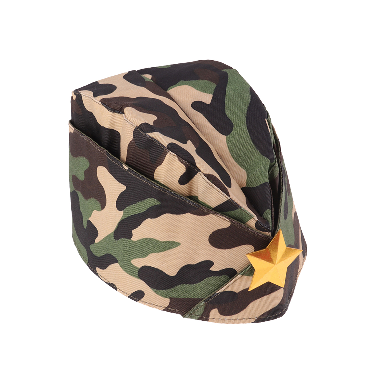1PC Red Star Military Stage Performance Sailor Dance Boat Cap Russian Army Cap Tricorne Red