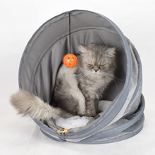 Cute Pattern Kitten Puppy Kennel Shelter Foldable Warm Cat Cave Bed Dog House Autumn Winter Soft Plush Small Dogs Cats Home Nest