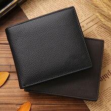 Couro dos homens carteira premium produto real carteiras de couro para o homem curto preto walet portefeuille homme bolsas curtas