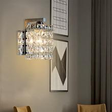 Artpad Indoor Wall Lamp Modern Simple Crystal Home Lighting Living Room Bathroom Stainless Steel Base E14 Lighting Fixtures