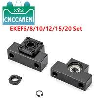 1 adet EK 6 8 10 12 15 20 EF6 8 10 12 15 20 vidalı uç desteği sabit yan CNC parçası