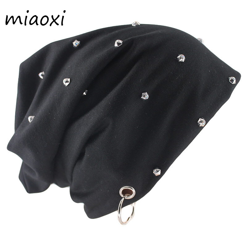 Miaoxi New Style Fashion Autumn Warm Beanies Skullies Bead Ring Casual Adult Men Women Gorras Brand Hip Hop Female Bonnet Hat