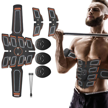 EMS Abdominal Muscle Trainer Smart Abdominal Stimulator Buttocks Lifting Fitness Dropshipping Weight loss Body Slimming Massager led electric muscle stimulator ems wireless buttocks hip trainer abdominal abs stimulator fitness body slimming massager