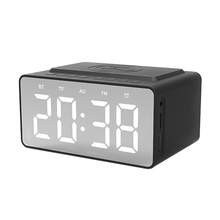 sardine sdy 019 portable wireless bluetooth speakers with alarm clock lcd time display big power 10w output hifi support Bt-508 Wireless Bluetooth 5.0 Speakers Time Screen Display Double-Horn Subwoofer Alarm Clock Wireless Phone Charging Support Tf