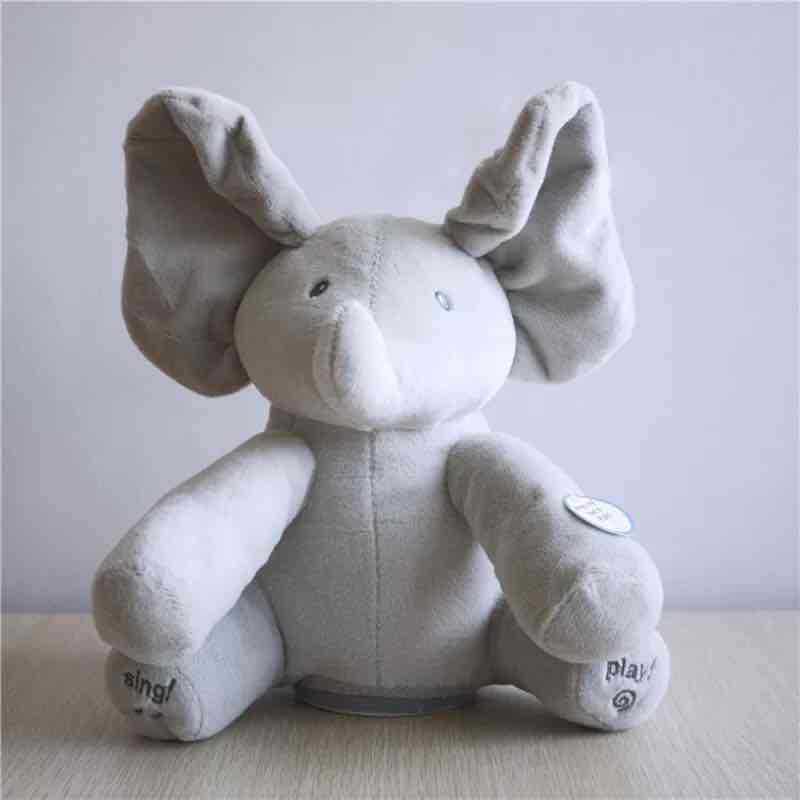 Baby Elephant Doll Peekaboo Plush Toy Cute Dog Electric Music Dang Yan Doll Birthday Gift