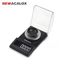 NEWACALOX-Mini Balance numérique de poche, 50g/100g, Balance électronique de haute précision pour les bijoux en argent Sterling
