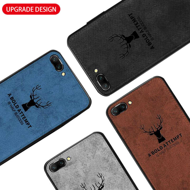 Fabric Cloth Phone Case For Huawei Honor 10 Lite 8X 8 9 Light Honor 10 Lite 360 Ultra Thin Soft Silicone Embossed Back Cover