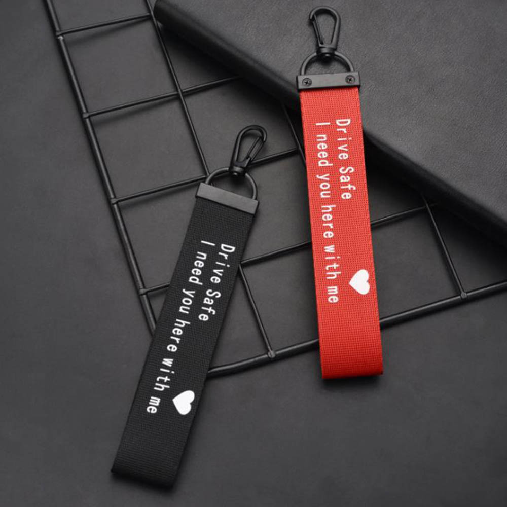 Keychain Lanyard Ribbon Key Chain Letter Printed Drive Safe Drive Safe I Need You Here With Me For Men Women Car Bag Jewelry
