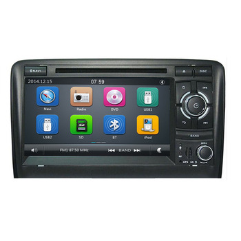 2 din Navi Car radio For Audi A3 2002-2011 car multimedia dvd player GPS Navigation stereo For Audi 8P A3 Autoradio 8P1 screen image