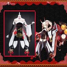 Uwowo oyun Azur Lane Ayanami Lin yeni yıl Cheongsam Cosplay kadın kızlar Chinoiserie kostüm