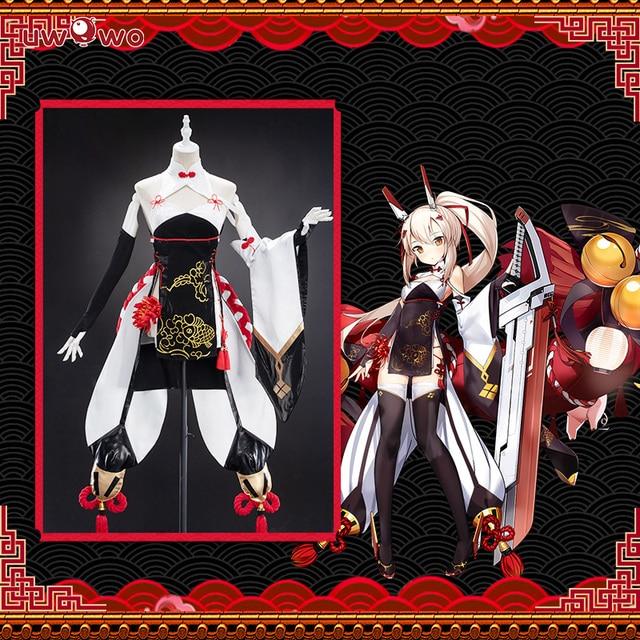 Uwowo Game Azur Lane Ayanami Lin New Year Cheongsam Cosplay Women Girls Chinoiserie Costume