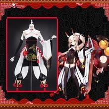 Uwowo Game Azur Lane Ayanami Lin Nieuwe Jaar Cheongsam Cosplay Vrouwen Meisjes Chinoiserie Kostuum