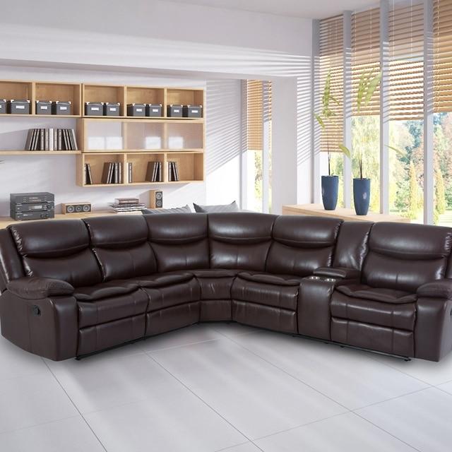 Manual Reclining Sectional Sofa Set  5