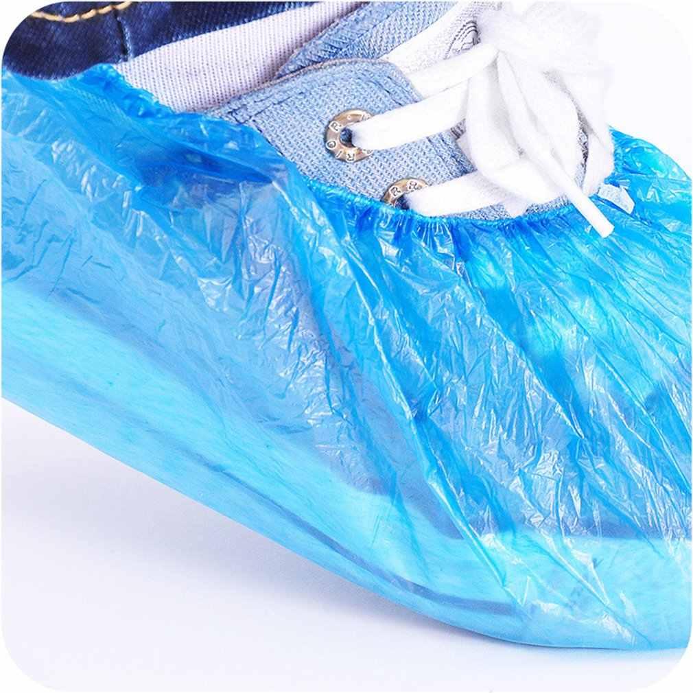 100pcs Disposable BOOT & รองเท้าหนาพิเศษกันน้ำป้องกัน Booties ลื่นรีไซเคิล