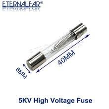 Fusível de alta pressão especial do tubo do fusível 5000v 700ma 6x40mm 0.65a 0.7a 0.75a 0.8a 0.8a 0.9a 1a de vidro do fusível 6x40mm do forno de microondas 5kv