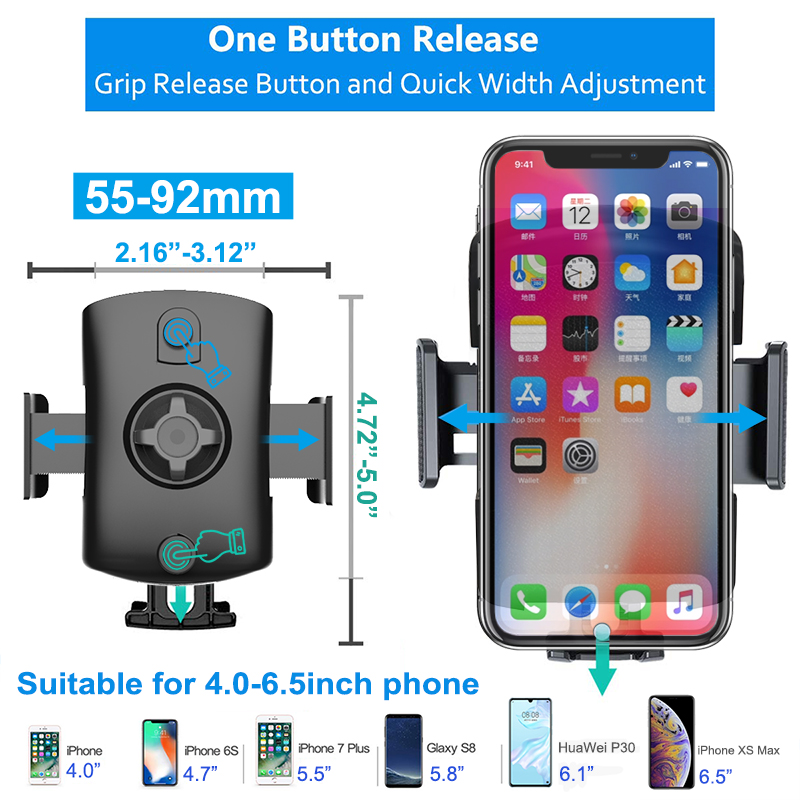 Univerola Car Mount Phone Holder For Phone in Car For Samsung S9 Car Suction Cup Mount Holder For iPhone X 7 Phone Stand Support Pakistan