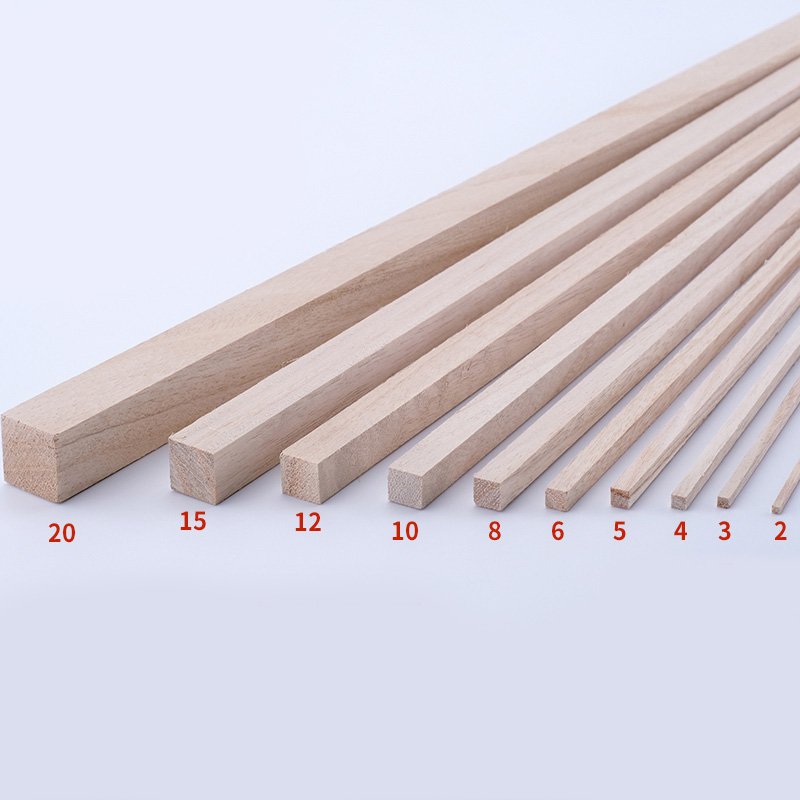 Length 30cm Long Square Wooden Bar Wood Stick Strips For Airplane Model DIY Handmade Crafts Art Supplies