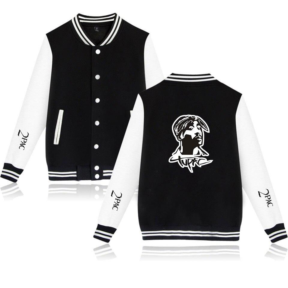 Rapper 2pac Baseball Jacket Men Bomber Jacket Tupac Amaru Shakur Makaveli  Streetwear Casual Tracksuit Hip Hop Baseball Uniform