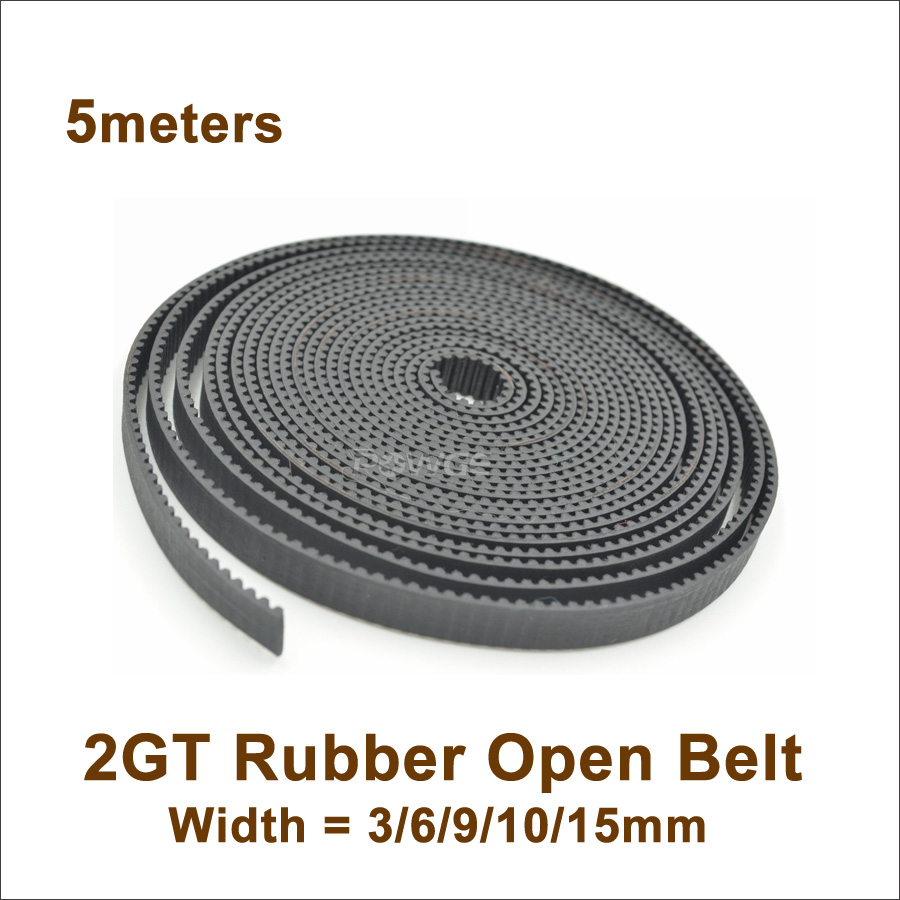 1 Meter 2GT GT2 Open Timing Belt Rubber 6//9//10mm width for CNC 3D Printer Parts.