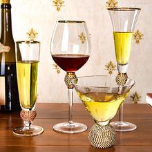 Phnom penh vinho tinto vidro champanhe criativo retro diamante copo de vinho cocktail taça de vidro vinho conjunto