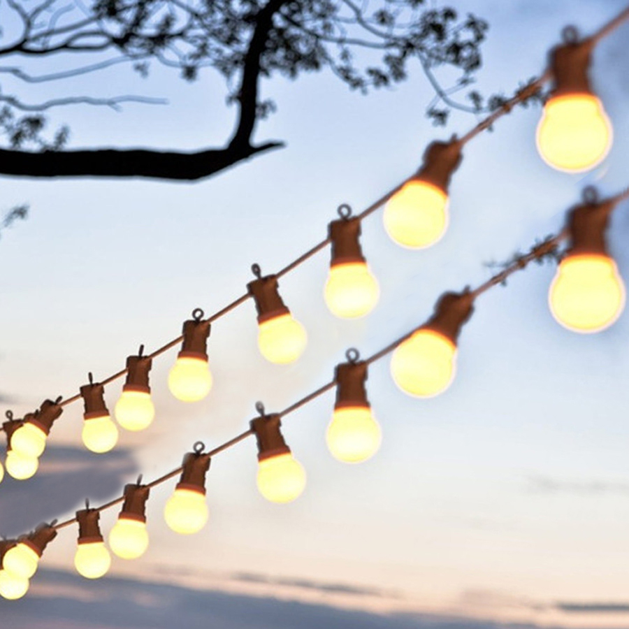Thrisdar 13M 20LED G50 Globe Festoon String Light Outdoor Waterproof LED Ball Fairy Light Wedding Party Christmas Garland