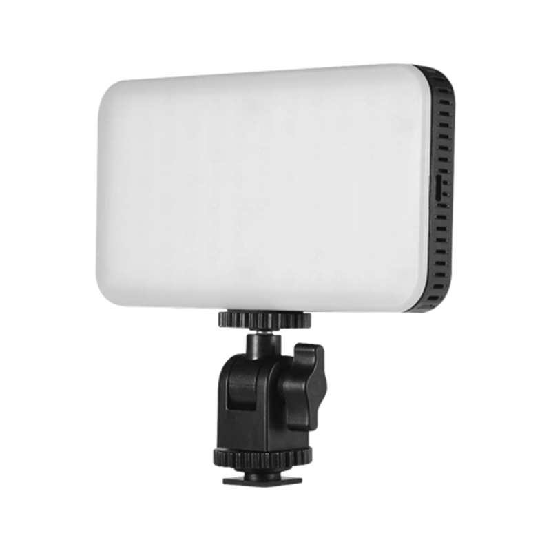 ORDRO Mini LED Luz de vídeo en la Cámara Luz de relleno lámpara de fotografía regulable 2700-6500K CRI 95 + batería incorporada de 2000MAh para Canon