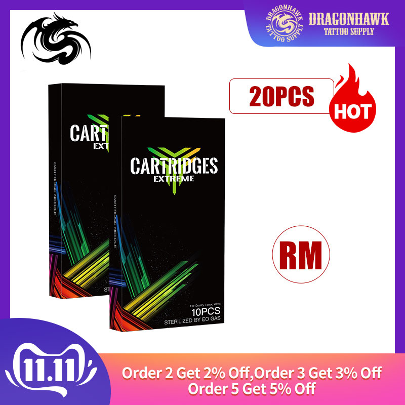 Top Sterile Needles RM Disposable Tattoo Needles 20pcs Carved Magnum For Rotary Pen Cartridge Supplies Kk20