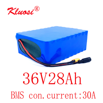 KLUOSI 36V 28Ah 30A 10S8P 1000W 36V Battery 42V Lithium Battery Pack with 30A BMS for Ebike Electric Car Bicycle Motor Scooter image