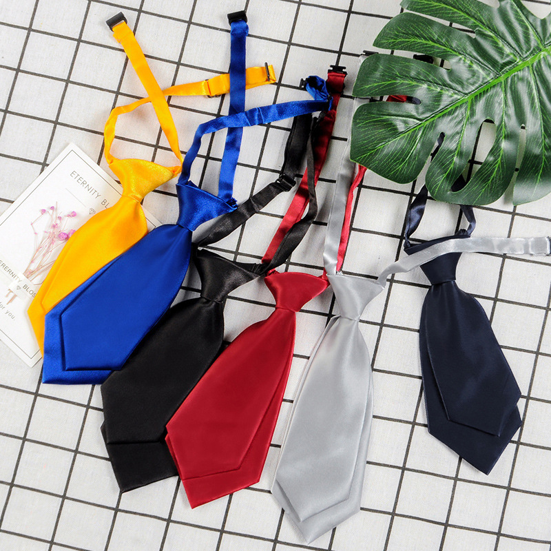 Necktie Polyester Men's Women's Shirts Student School Uniform Career Simple Double Layer Short Small Tie Classic Trendy Gifts