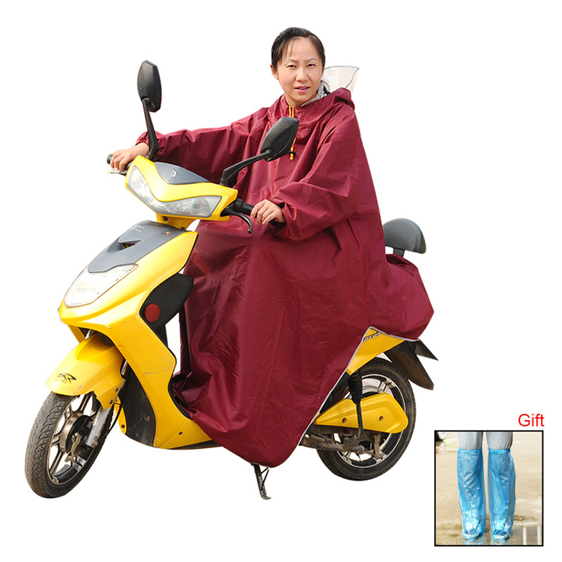 Full Protection Adult Oxford Cloth Raincoat With Cap Electric Bicycle Motorcycle Outdoor Riding