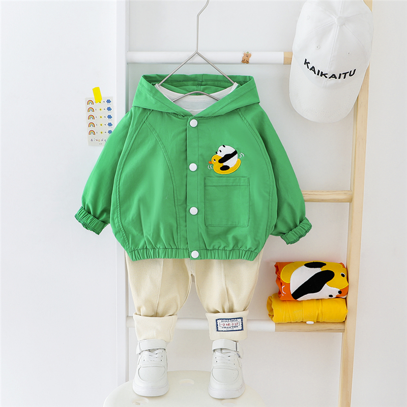 HYLKIDHUOSE 2020 Baby Boys Girls Clothing Sets Casual Style Hooded Coats Pants Cartoon Toddler Infant Clothes Children Clothing