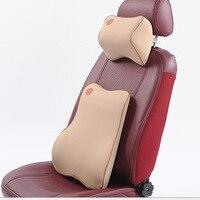 Automotive Headrest Memory Foam Lumbar Pillow Headrest Cotton Core Cushion Back Pillow Care Nursing Car Neck Pillow